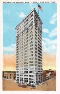 B12/ Waco Texas Tx Postcard c1920s Amicable Life Insurance Building