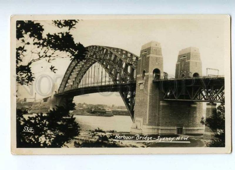 191900 AUSTRALIA SYDNEY Harbour Bridge Vintage photo postcard