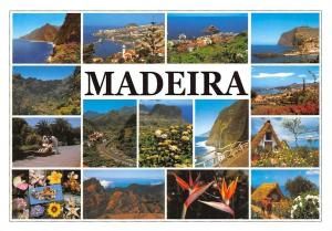 Portugal Madeira multiviews House Garden Flowers, Road Church Panoramic view