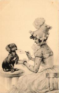 CPA Illustration on Postcard DOGS (728035)