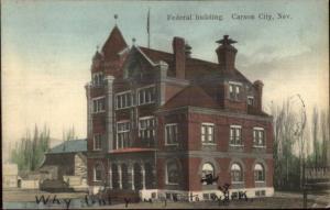 Carson City NV Federal Bldg c1910 Postcard jrf
