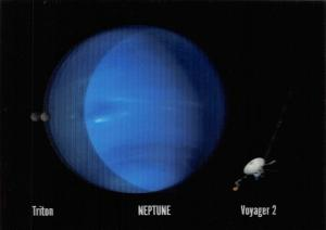 3D Postcard, of Plant NEPTUNE, Triton & Voyager 2 by MBM Systems 68U
