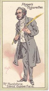 Cigarette Cards Players Characters From Dickens No 37  Mr. Murdstone