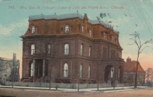 CHICAGO , Illinois, 1914; Mrs. Geo. M. Pullman's Home at 18th and Prairie Ave.