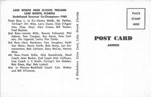 Lake Worth FL High School Trojans Football 1960 Postcard