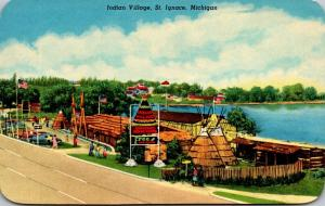 Michigan St Ignace The Indian Village