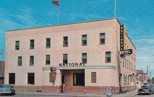 HANNA, Alberta, Canada, 1940-60s; National Hotel, Classic car