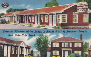 SALT LAKE CITY , Utah, 1930-40s ; Sorensen Western Motor Lodge, 2-views
