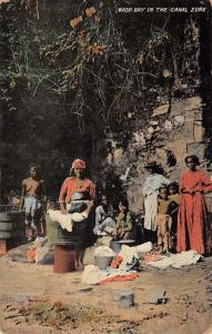 Canal Zone Panama Wash Day Native Women Scene Antique Postcard K79739