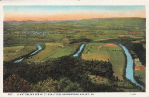 SHENANDOAH VALLEY, Virginia, 1900-1910s; A Matchless Scene, Aerial View