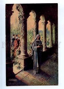 226765 Love sorrows NUN by MASTROIANNI Vintage SALON 1914 PC