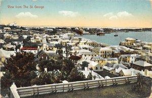 Bermuda Post card Old Vintage Antique Postcard View from The St. George Unused