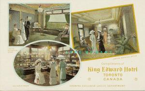 1910 Toronto Ontario Multiview Postcard: King Edward Hotel Ladies Facilities