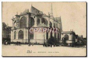 Old Postcard Montargis Apse of the & # 39Eglise