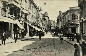 brazil, SÃO PAULO, Rua Quinze de Novembro, Casa Paiva (1910s)
