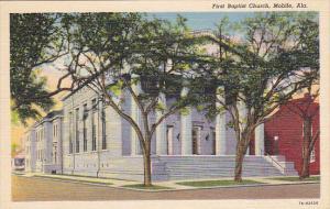 First Baptist Church , MOBILE , Alabama , 30-40s