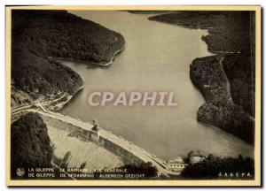 Old Postcard The Gileppe Dam General view
