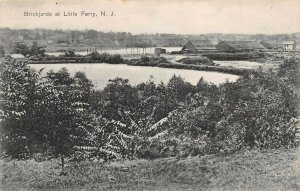 LPN16 Little Ferry New Jersey Postcard Brickjards Aerial View