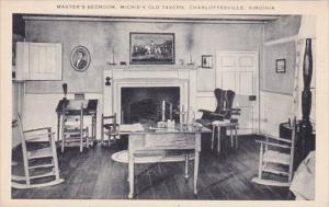 Virginia Charlottesville Master's Bedroom Michie's Old Tavern