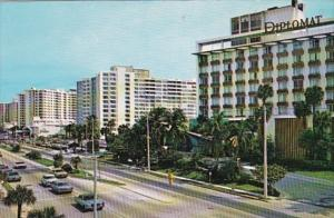 Florida Hollywood By The Sea Luxurious Hotels Lining Ocean Boulevard 1976