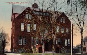 ELIZABETH NEW JERSEY CHERRY STREET POSTCARD 1910s