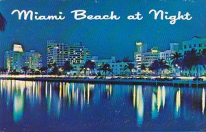 Florida Miami Beach At Night