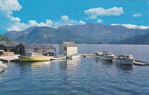 Fishing Boats at Powell Lake, British Columbia, Canada, 1950-60s