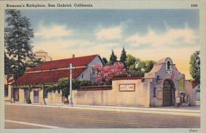 Ramona's Birthplace San Gabriel California