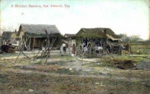 Mexican Mansion San Antonio TX Writing On Back