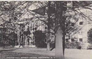 North Carolina Greensboro Pfeiffer  Hall Bennett College Artvue