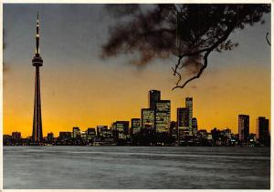 Canada Ontario Toronto CN Tower General view Sunset