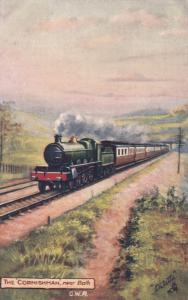 UK Railroad Train ; Cornishman near Bath G.W.R. , 00-10s ; TUCK