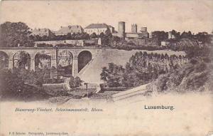 Bridge, Bisserweg- Viaduct, Schwimmanstalt, Rham, Luxembourg, PU-1903