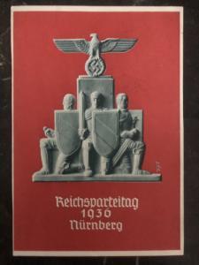 1936 Germany Postcard  Propaganda cover to Vienna  Nurnberg Rally NSDAP