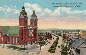 SPOKANE , Washington , 1900-10s ; Riverside Avenue, West from Monroe Street