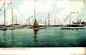 RI - Newport. Yachts in Harbor