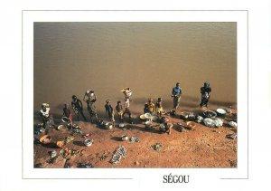 Mali Segou ethnic life Niger river postcard