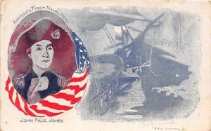D56/ Patriotic Postcard c1910 John Paul Jones First Navy Hero 5
