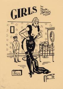 A Girl Girls Name Called Jill Burlesque Striptease Limited Edn Glamour Postcard