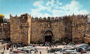 Jordan Old Vintage Antique Post Card Damascus Gate Jerusalem Writing on back