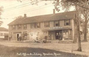 Mendon MA Post Office Cash grocery Store Delivery Truck RPPC Postcard
