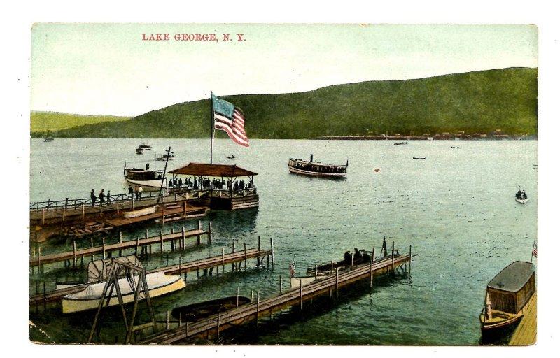 NY - Lake George. Piers & Boats