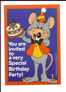 Special Birthday Party, Chuck E Cheese Pizza Theatre, Advertising Postcard