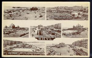 Rhyl Wales multi-view RPPC unused c1930's