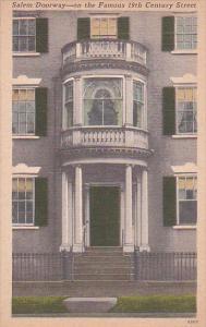 Massachusetts Salem Doorway On The Famous 19th Century Street