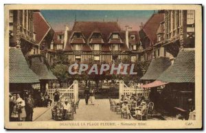 Old Postcard Deauville La Plage Fleurie Normandy Hotel