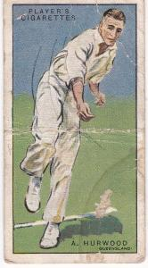 Cigarette Cards Player's Cricketers 1930 No 26 - A Hurwood