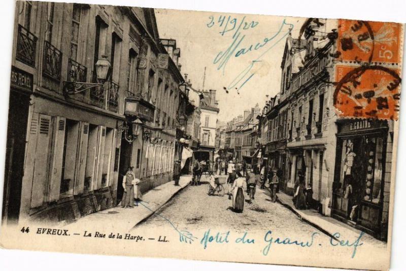 CPA ÉVREUX - Rue de la Harpe (129090)