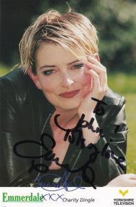 Emma Atkins Charity Dingle Emmerdale Farm Hand Signed Cast Card Photo
