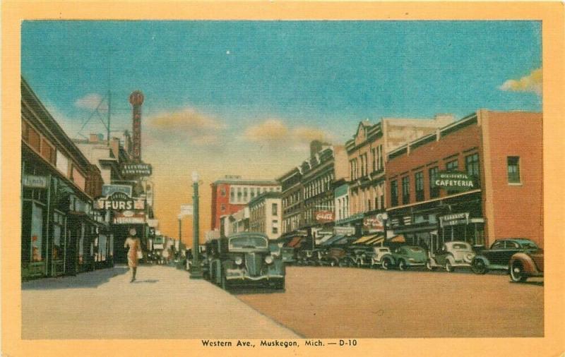 MI, Muskegon, Michigan, Western Avenue, Colorcraft No. 29802